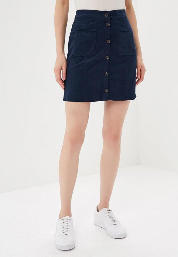 женская прямые юбка blendshe, синяя