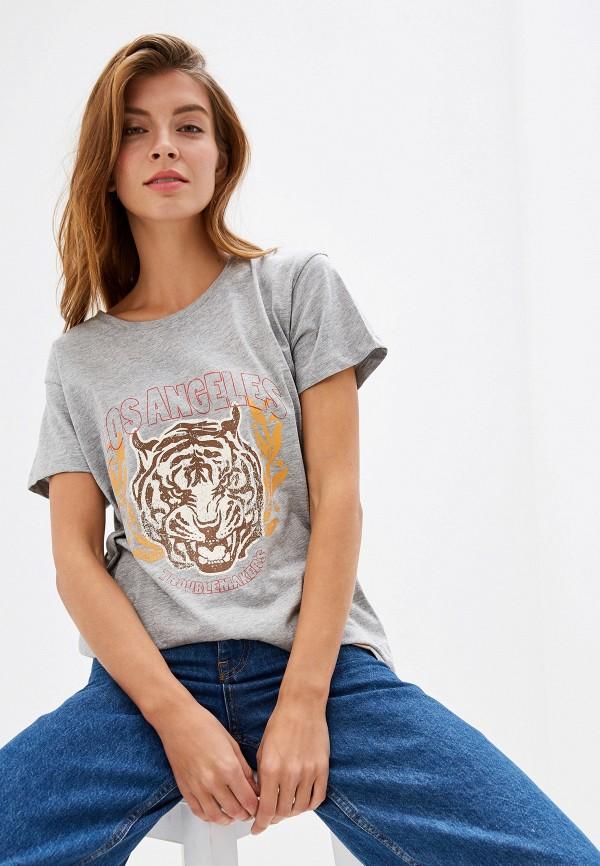 Купить Женскую футболку BlendShe серого цвета