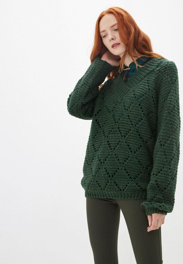 женский пуловер blendshe, зеленый