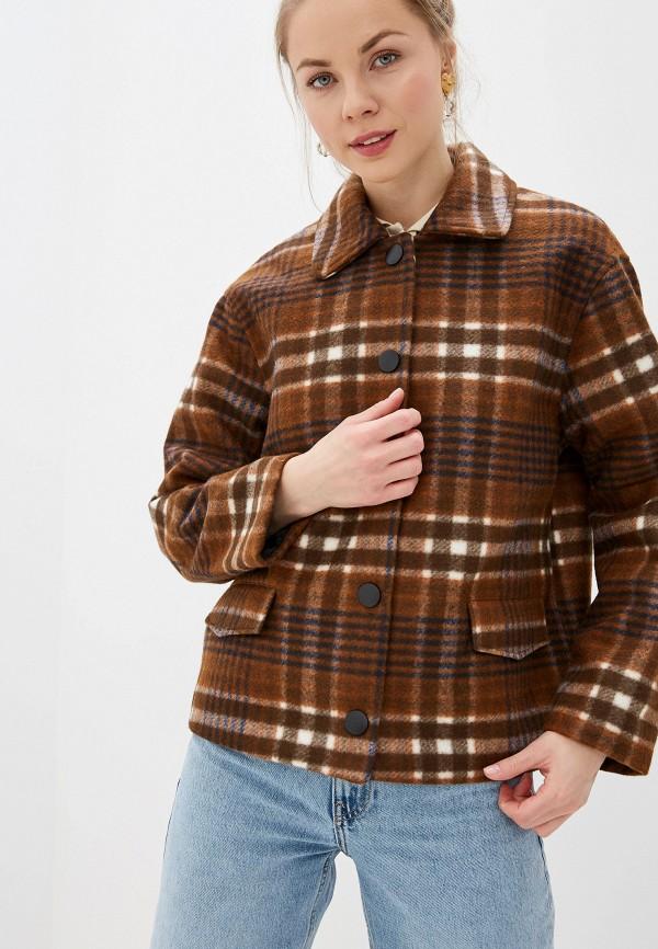 женское пальто blendshe, коричневое