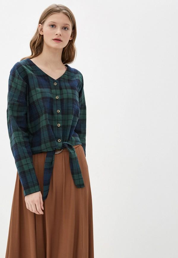 женская блузка blendshe, зеленая