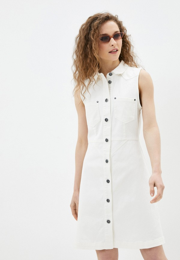 женское джинсовые платье blendshe, белое