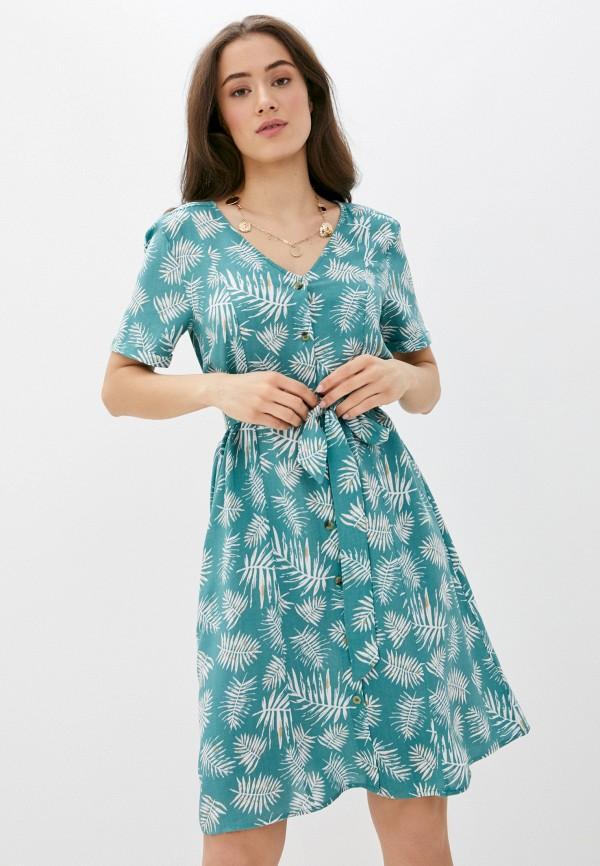 женское повседневные платье blendshe, бирюзовое