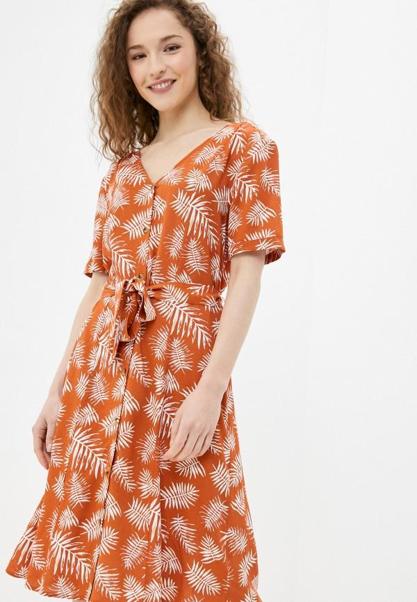 женское повседневные платье blendshe, оранжевое