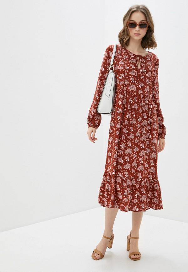 женское повседневные платье blendshe, коричневое