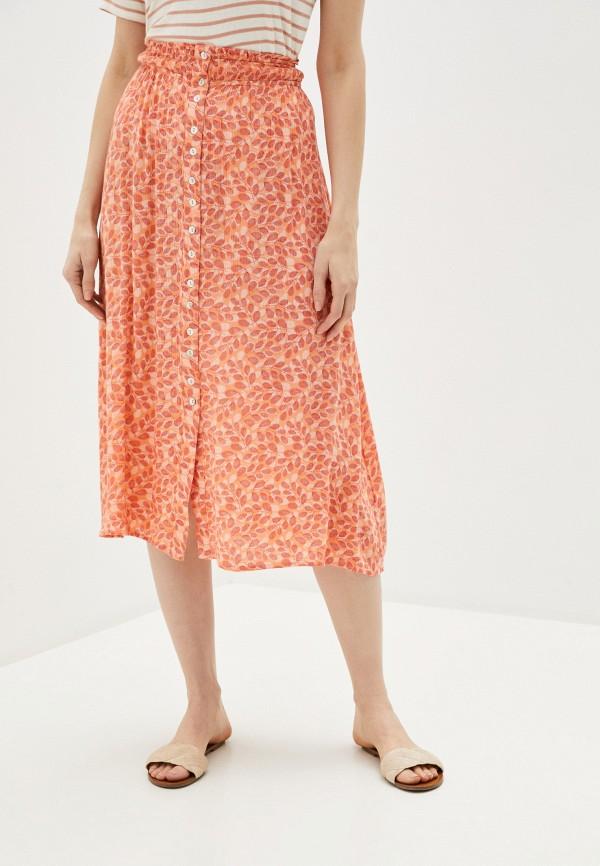 женская юбка blendshe, оранжевая