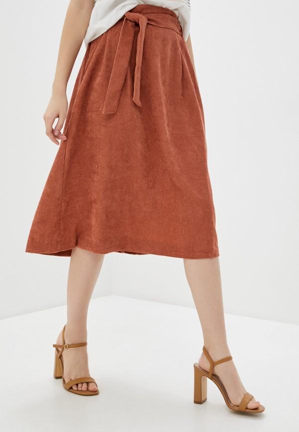женская юбка blendshe, коричневая