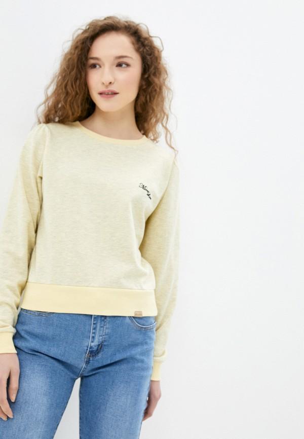женский свитшот blendshe, желтый