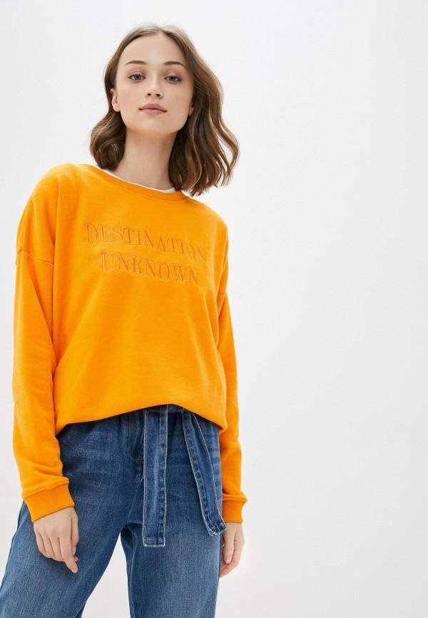 женский свитшот blendshe, оранжевый
