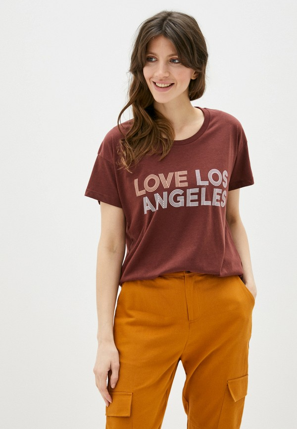 женская футболка blendshe, коричневая