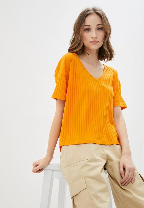 женская футболка blendshe, оранжевая
