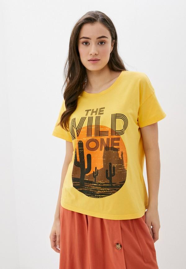 женская футболка blendshe, желтая