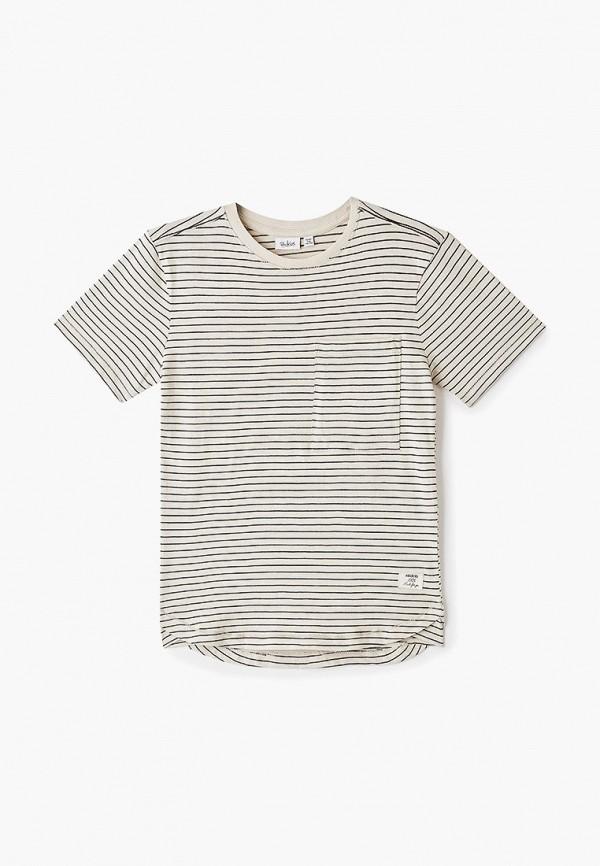 футболка blukids для мальчика, бежевая