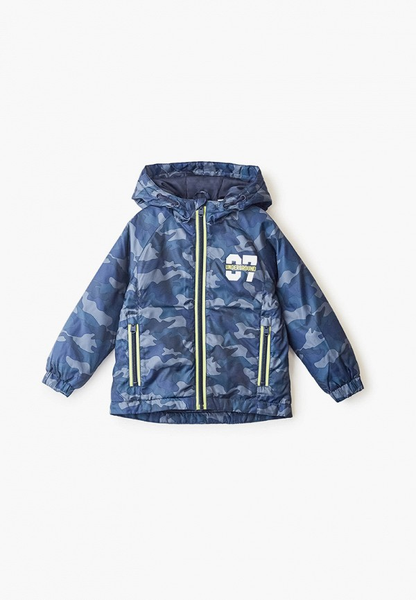 куртка blukids для мальчика, синяя