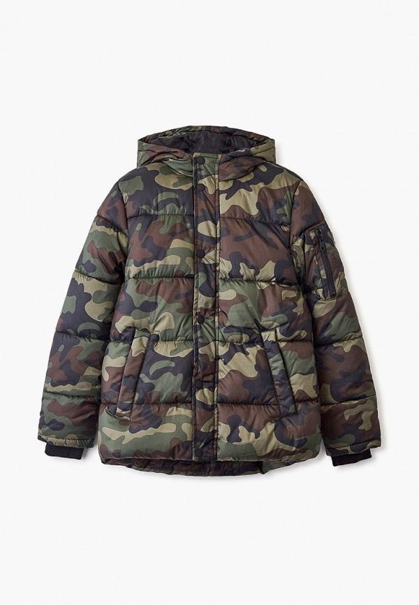 утепленные куртка blukids для мальчика, хаки