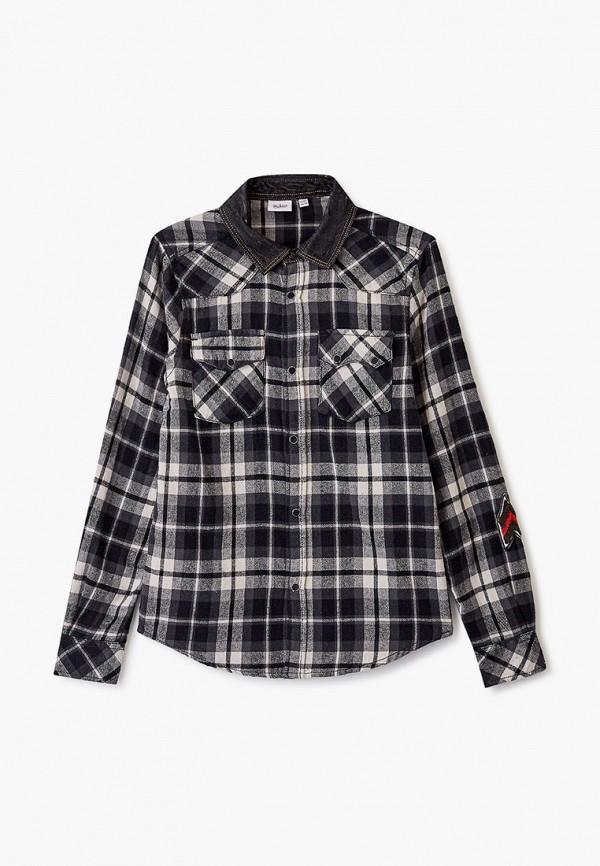 рубашка blukids для мальчика, серая