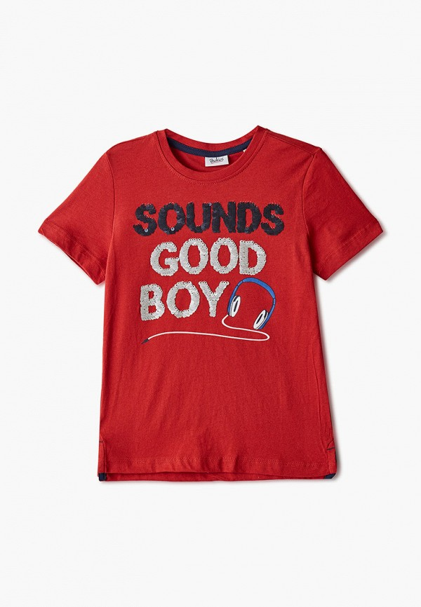 футболка с коротким рукавом blukids для мальчика, красная