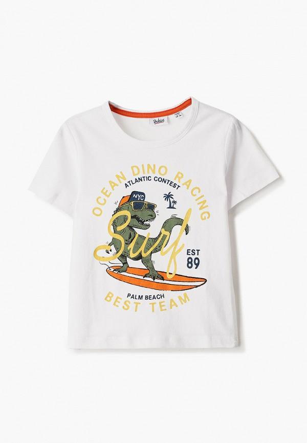 футболка с коротким рукавом blukids для мальчика, белая