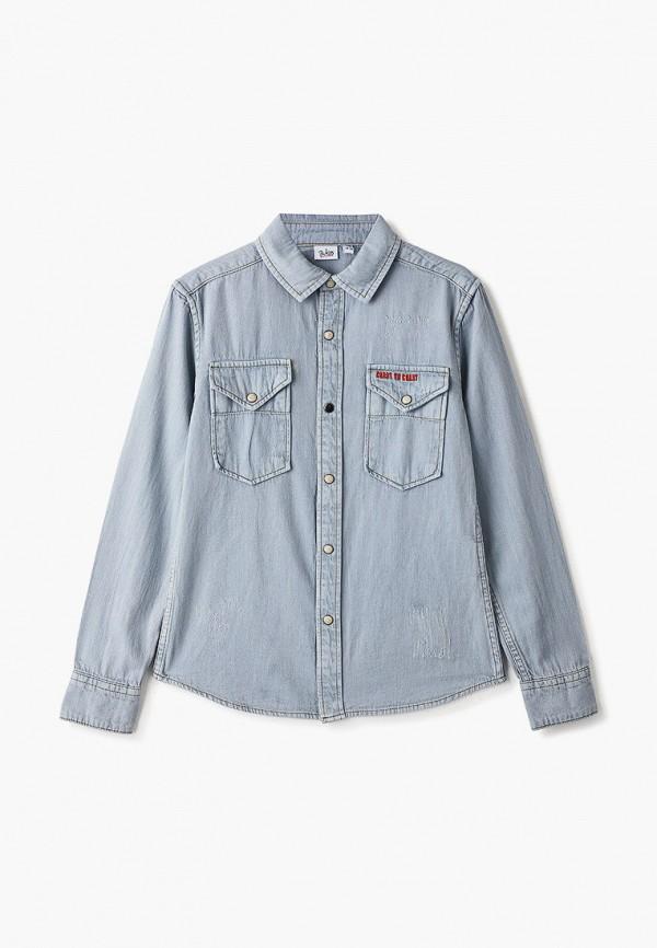 джинсовые рубашка blukids для мальчика, голубая