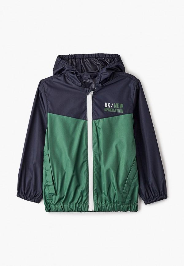 куртка blukids для мальчика, зеленая