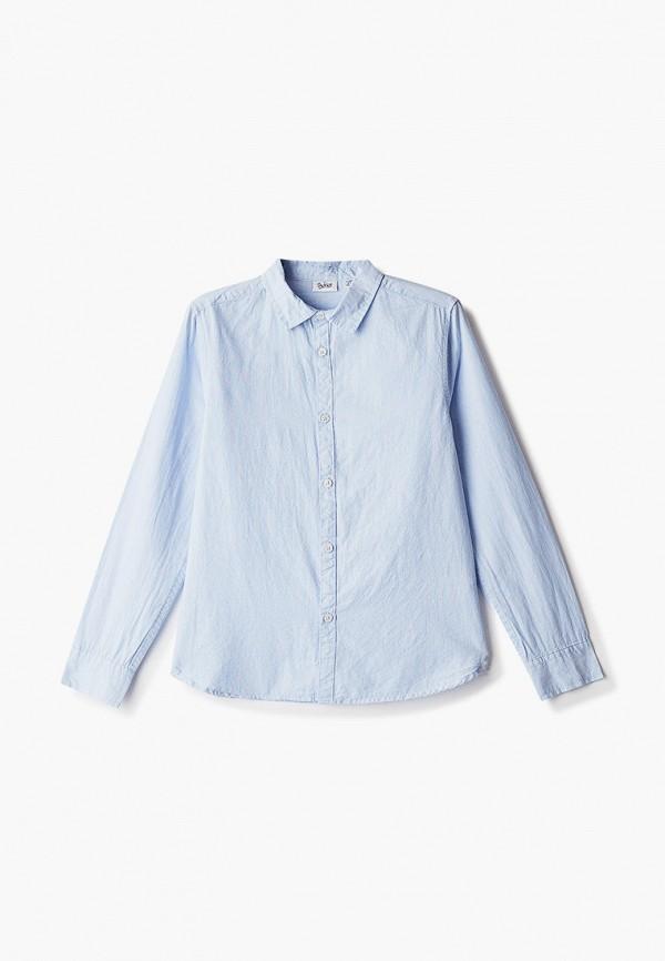 рубашка blukids для мальчика, голубая