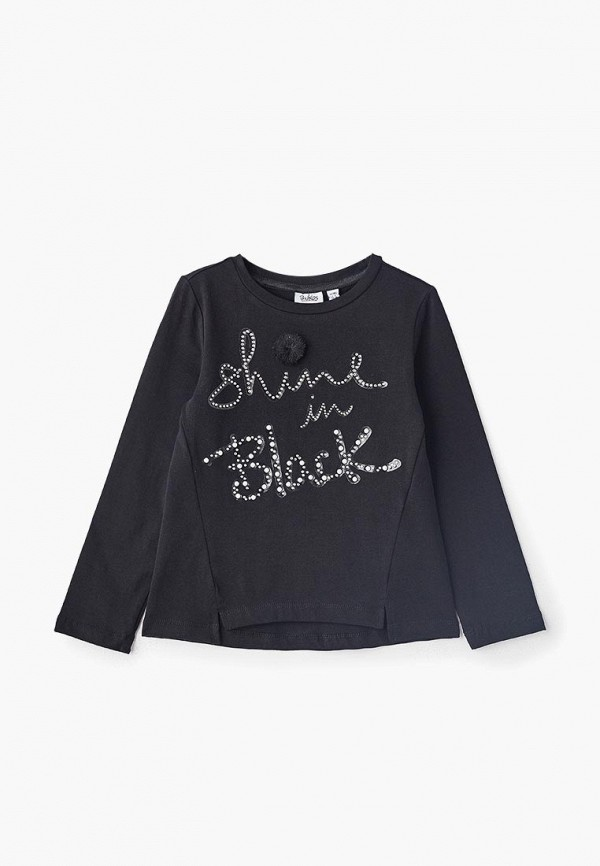лонгслив blukids для девочки, черный