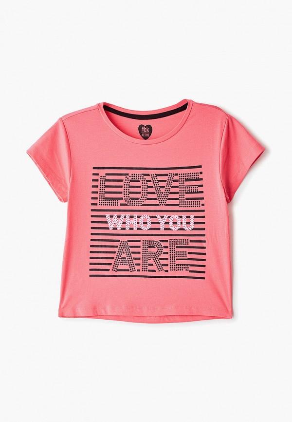 футболка blukids для девочки, розовая