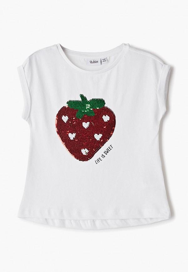 футболка blukids для девочки, белая