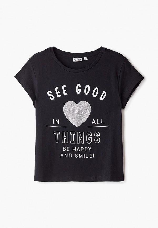 футболка blukids для девочки, черная