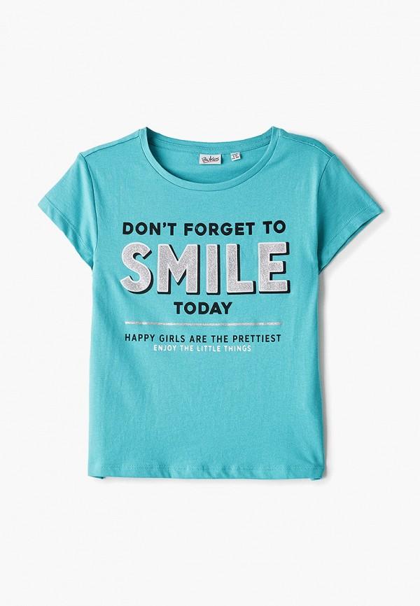 футболка blukids для девочки, бирюзовая