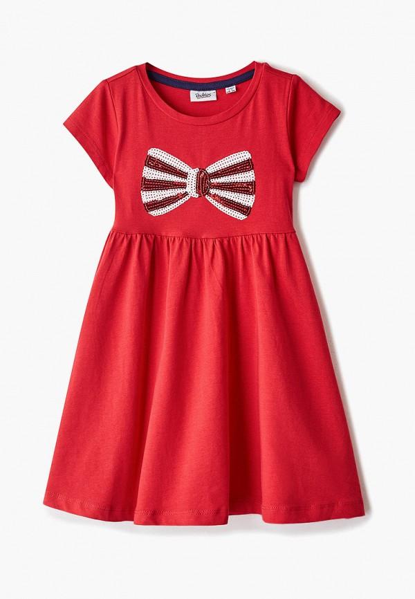 повседневные платье blukids для девочки, красное