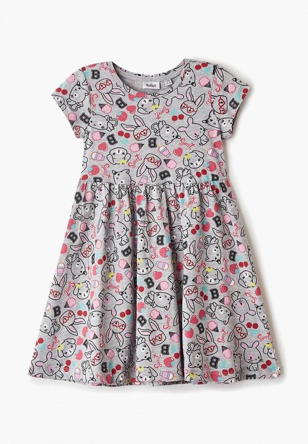 платье blukids для девочки, серое