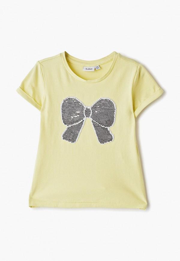 футболка blukids для девочки, желтая