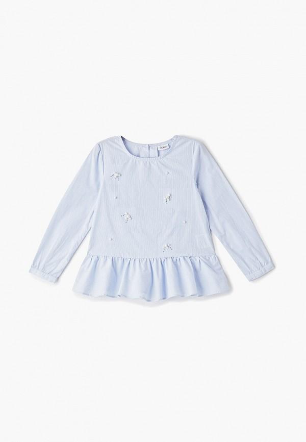 блузка blukids для девочки, голубая