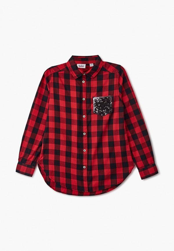 рубашка blukids для девочки, красная