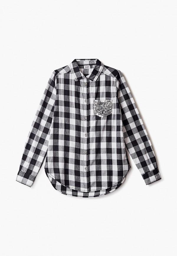 рубашка blukids для девочки, серая