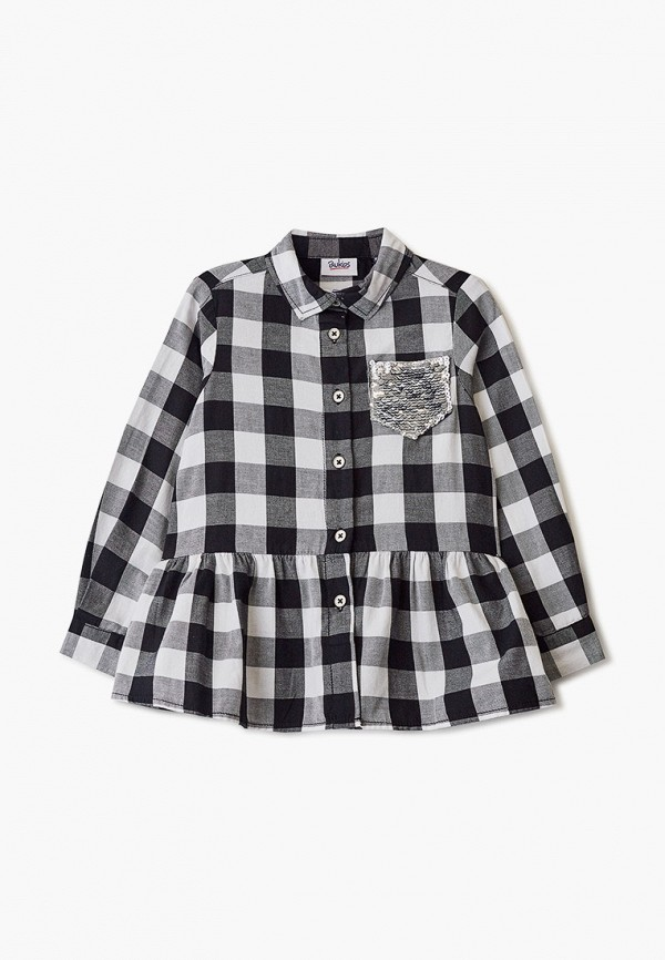 рубашка blukids для девочки, черная