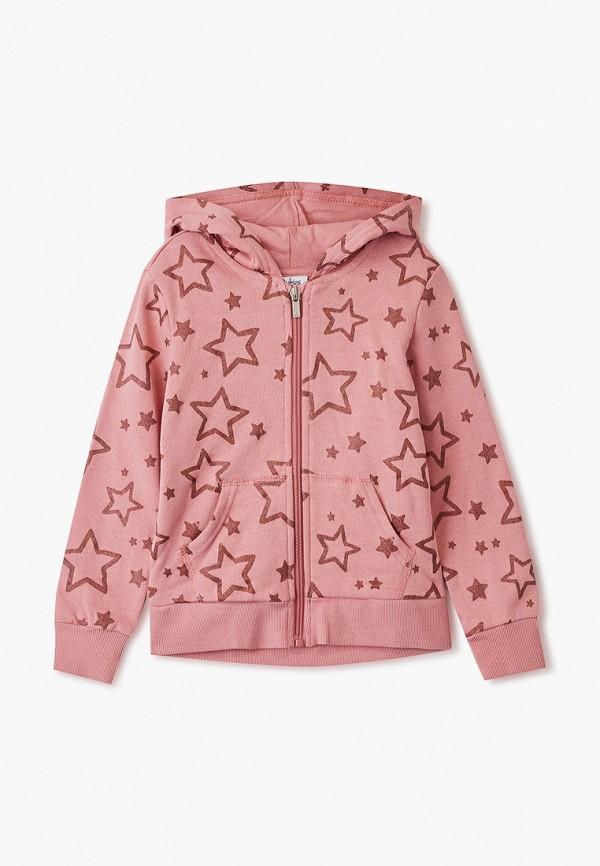 толстовка blukids для девочки, розовая