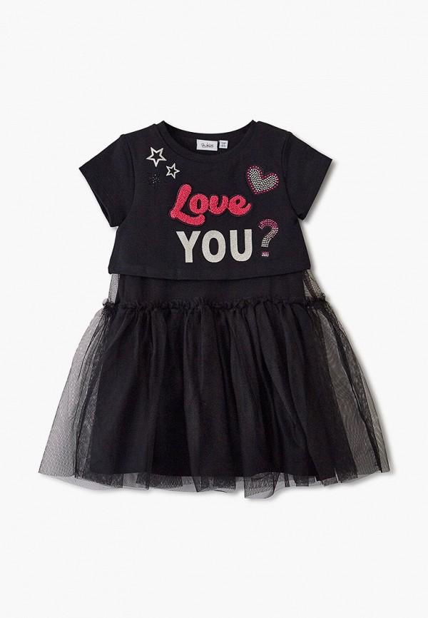 повседневные платье blukids для девочки, черное