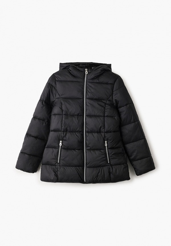 утепленные куртка blukids для девочки, черная