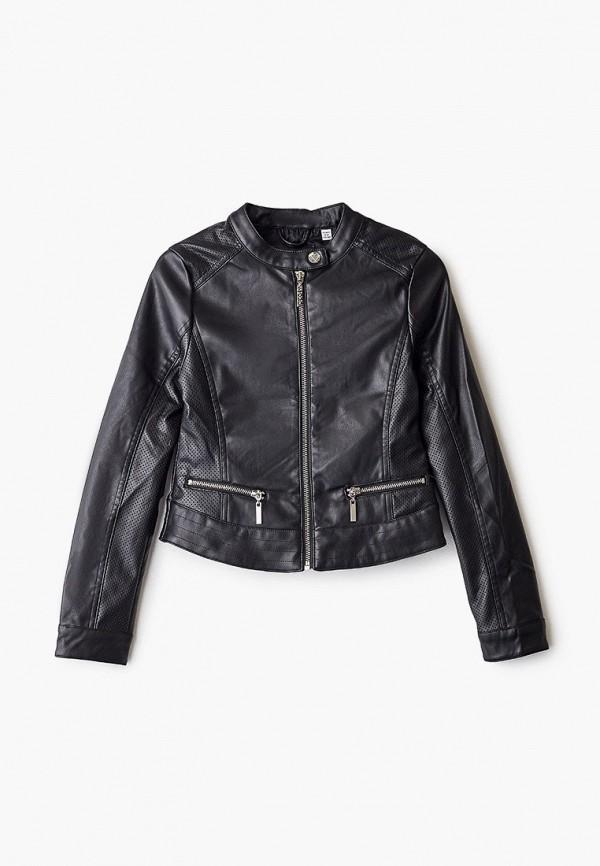 кожаные куртка blukids для девочки, черная