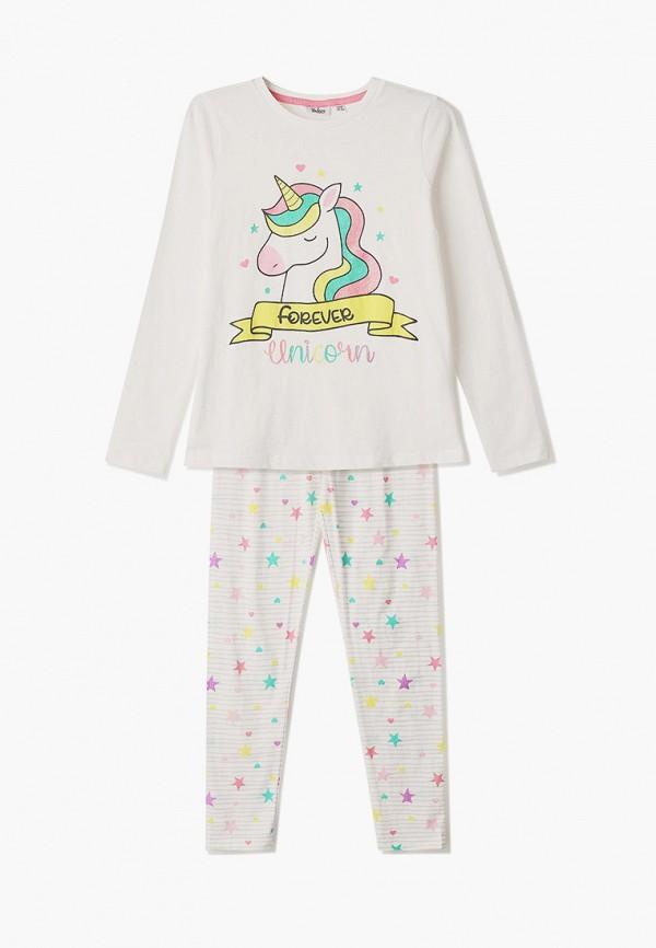 пижама blukids для девочки, белая