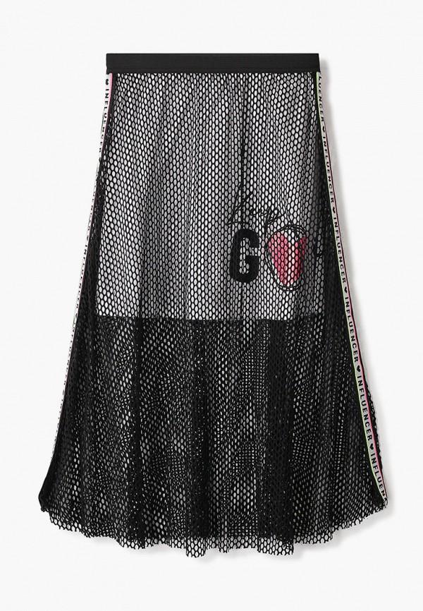 юбка blukids для девочки, черная