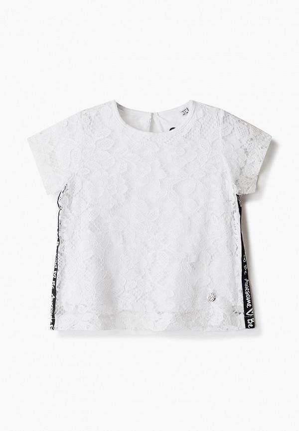 блузка blukids для девочки, белая