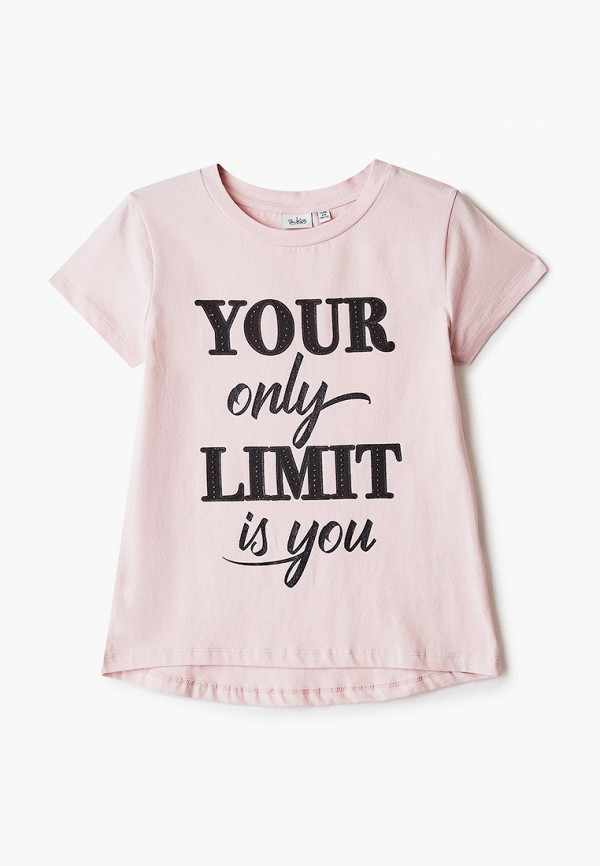 футболка с коротким рукавом blukids для девочки, розовая