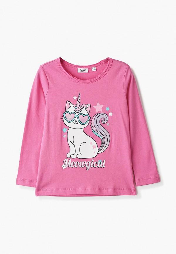 лонгслив blukids для девочки, розовый