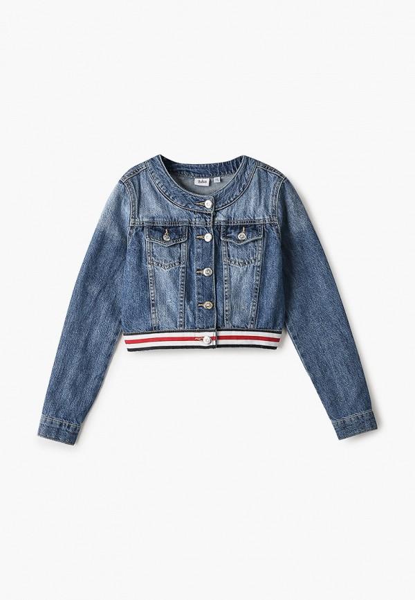 джинсовые куртка blukids для девочки, синяя