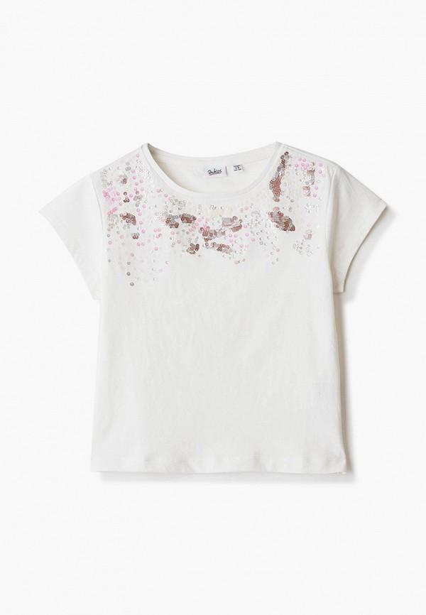 футболка с коротким рукавом blukids для девочки, белая