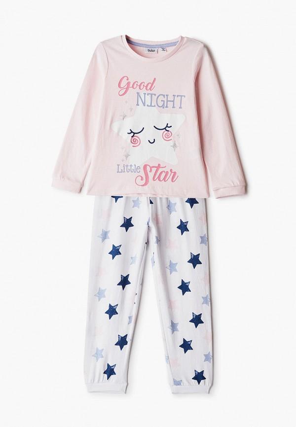 пижама blukids для девочки, розовая