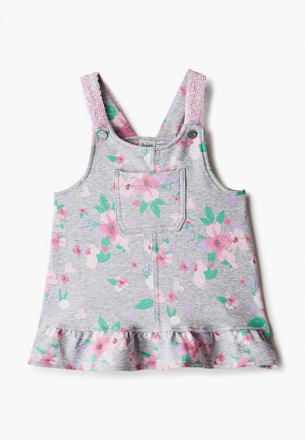 повседневные платье blukids для девочки, серое